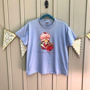 Vintage Blue Strawberry Shortcake Tee Shirt